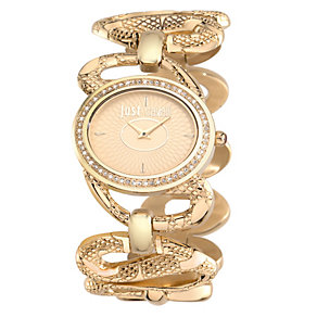 Just Cavalli Sinuous Ladies' Gold-Plated Bracelet Watch - Product number 1115111