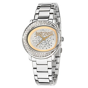 Just Cavalli Ladies' Stainless Steel Crystal Bracelet Watch - Product number 1115243
