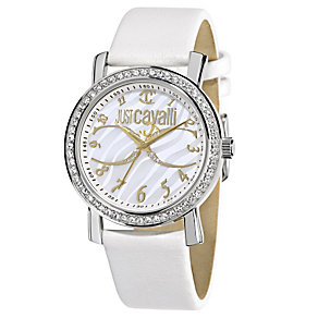 Just Cavalli Ladies' Stainless Steel White Strap Watch - Product number 1115251