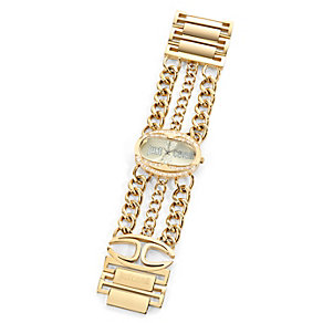 Just Cavalli Ladies' Oval Gold-Plated Chain Watch - Product number 1115278