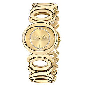 Just Cavalli Ladies' Crystal Gold-Plated Bracelet Watch - Product number 1115294