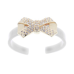 Ted Baker white acrylic pave crystal bow cuff - Product number 1115332