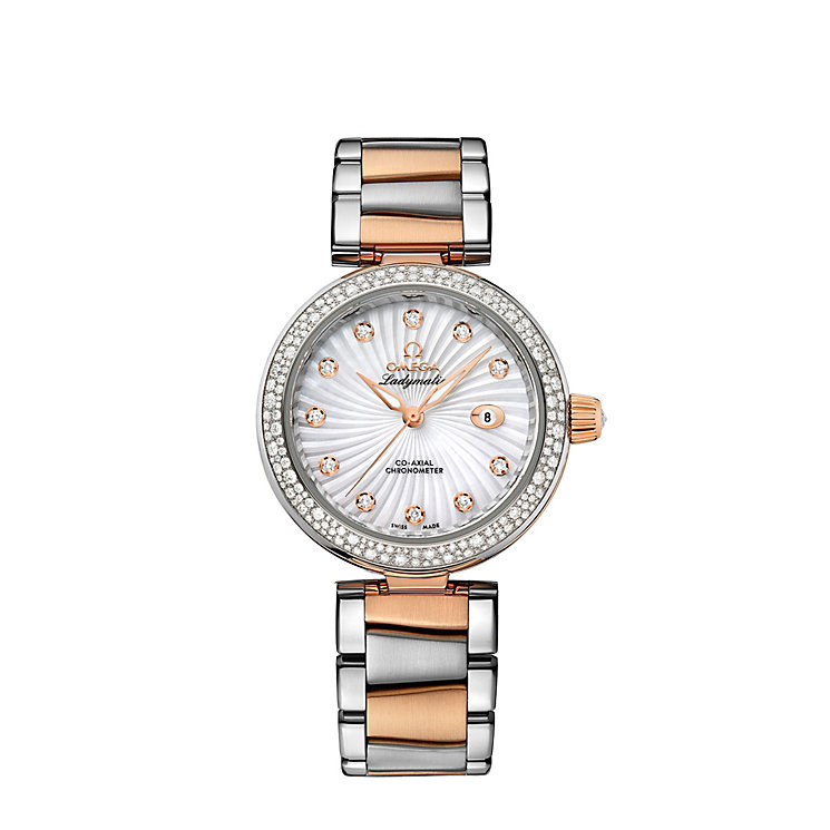 Omega Ladymatic ladies' diamond two colour bracelet watch - Product number 1118358