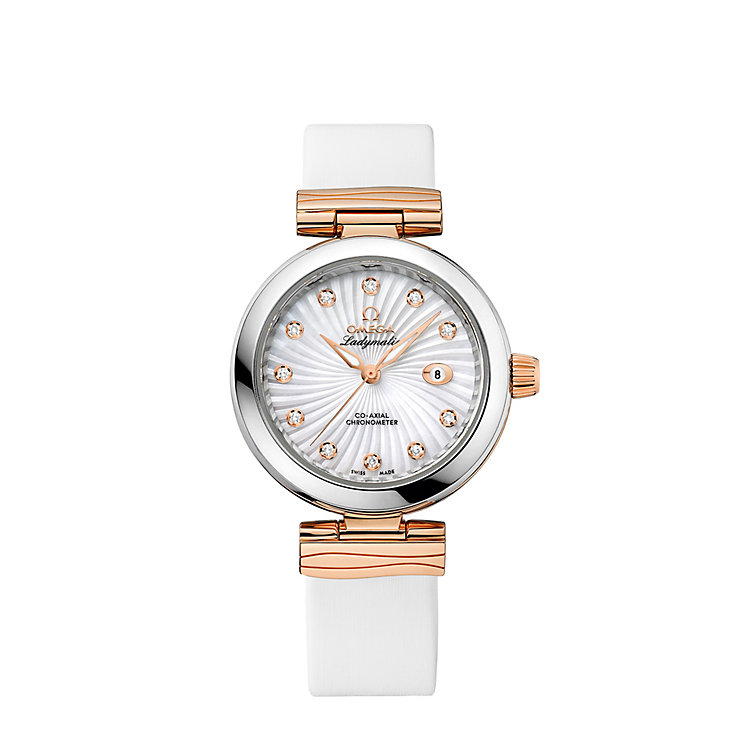 Omega De Ville Ladymatic ladies' diamond strap watch - Product number 1118382