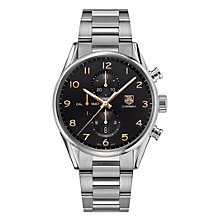 TAG Heuer Carrera men's stainless steel bracelet watch - Product number 1120379