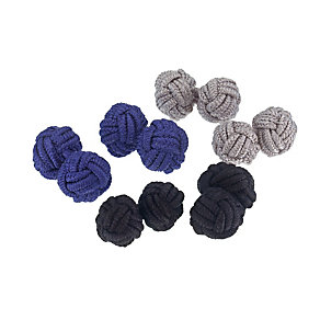Hugo Boss silk knot three pair cufflink set - Product number 1120476