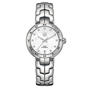 TAG Heuer Link ladies' diamond steel bracelet watch - Product number 1120530