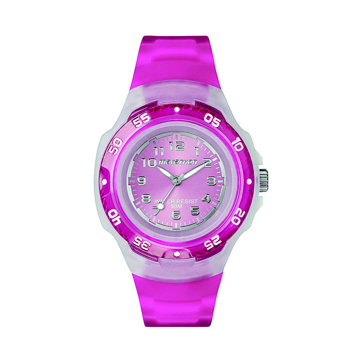 Timex Marathon Child's Bright Pink Strap Watch - Product number 1120697