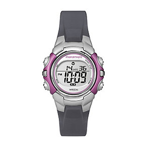 Timex Marathon Child's Dark Grey & Pink Digital Strap Watch - Product number 1120751
