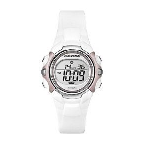 Timex Marathon Child's White & Pink Digital Strap Watch - Product number 1120778