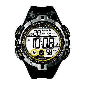 Timex Marathon Child's Black & Yellow Digital Strap Watch - Product number 1121464