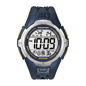 Timex Marathon Child's Navy Blue Digital Strap Watch - Product number 1121936