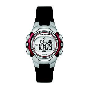 Timex Marathon Child's Black & Silver Digital Strap Watch - Product number 1122312
