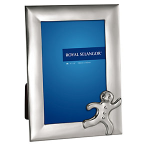 "Royal Selangor 4"" x 6"" pewter gingerbread man photo frame - Product number 1124765"
