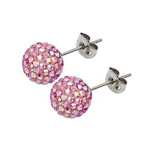 Tresor Paris Blush 8mm pink crystal stud earrings - Product number 1126644