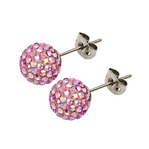 Tresor Paris Blush 10mm pink crystal stud earrings - Product number 1126652
