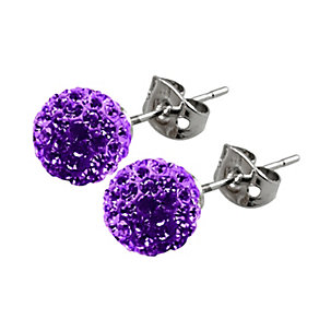 Tresor Paris 8mm purple crystal stud earrings - Product number 1126733