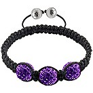 Tresor Paris three 10mm purple crystal bracelet - Product number 1126768