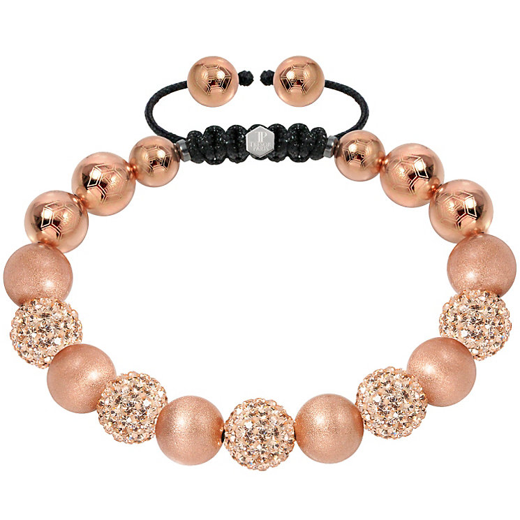 Tresor Paris 10mm gold crystal & frosted bracelet - Product number 1126792