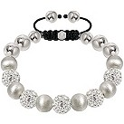 Tresor Paris 10mm white crystal & frosted bracelet - Product number 1126806