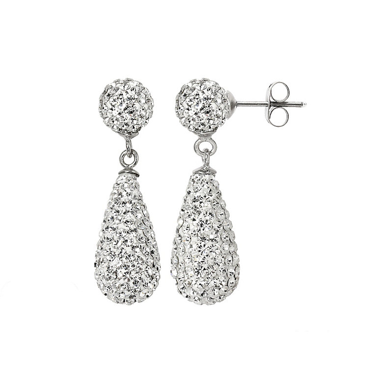 Tresor Paris small white crystal pear drop earrings - Product number 1126849