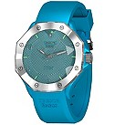 Tresor Paris light blue silicone strap watch - medium 44mm - Product number 1127969