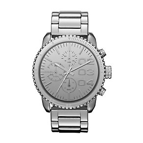 Diesel Ladies' Silver Dial Stainless Steel Bracelet Watch - Product number 1131982