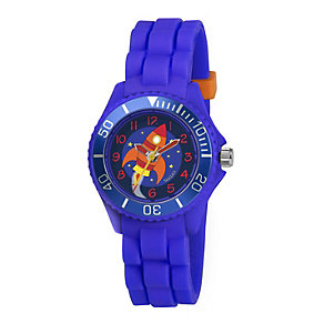 Tikkers Children's Blue Rocket Silicone Strap Watch - Product number 1133616