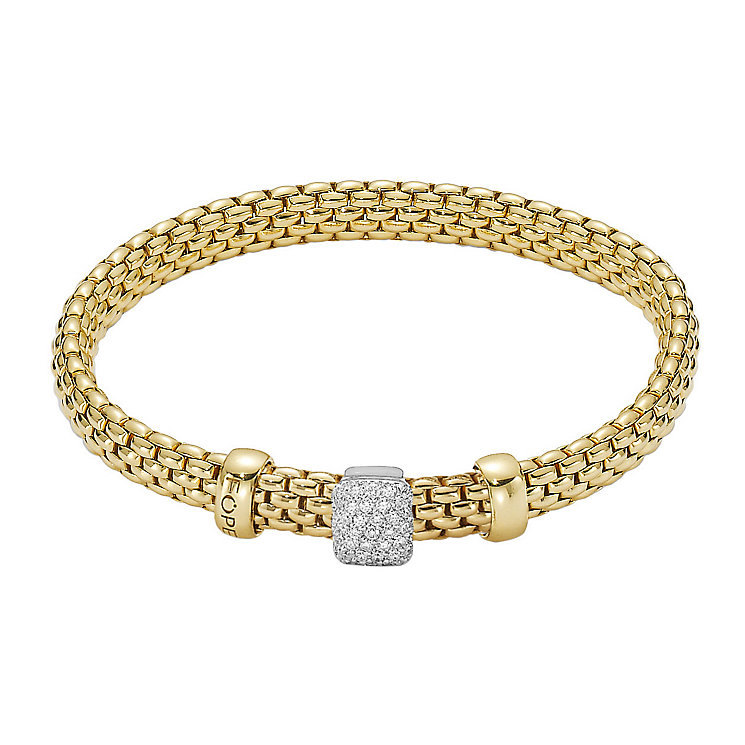 Fope Flex' It Vendome 18c gold diamond bracelet - Product number 1134418