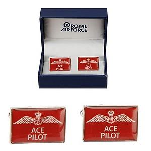 Royal Air Force Ace Pilot Cufflinks