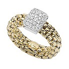 Fope Flex' It Vendome 18ct yellow gold diamond ring - Product number 1134841