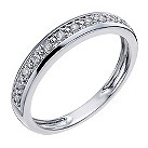 9ct white gold 10 point eternity ring - Product number 1135031