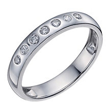 Platinum 3.5mm 13 point diamond ring - Product number 1135309