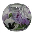 Mercury Purple Flower Butterfly Candle Holder - Product number 1135902