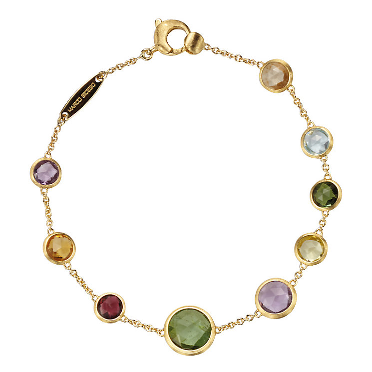 Marco Bicego Jaipur 18ct gold mix stone bracelet - Product number 1142836