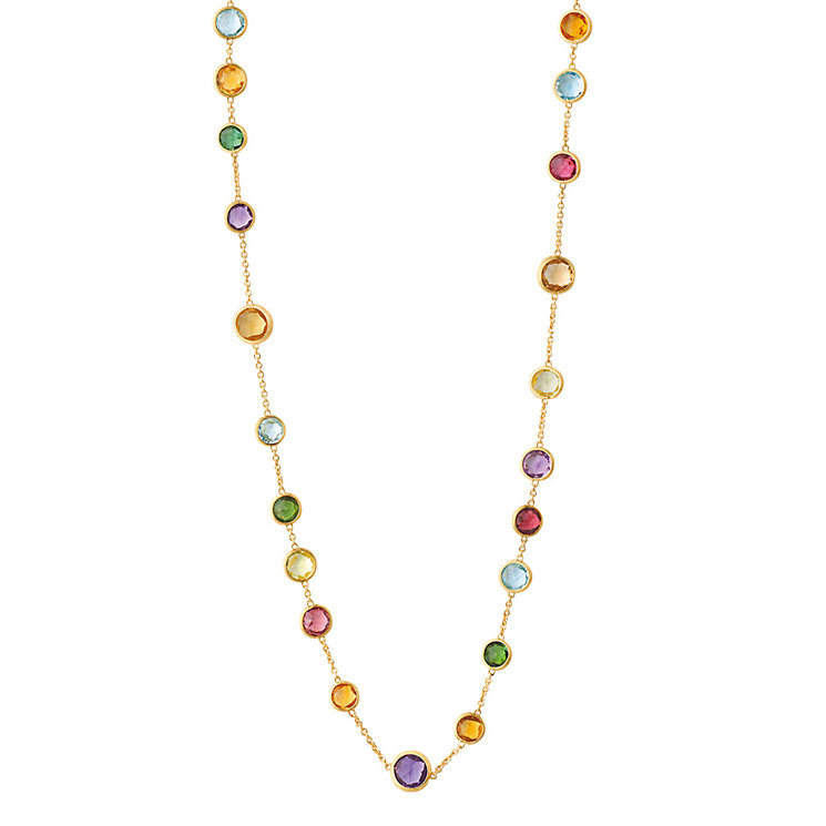 Marco Bicego Jaipur 18ct gold mix stone necklace - Product number 1142895