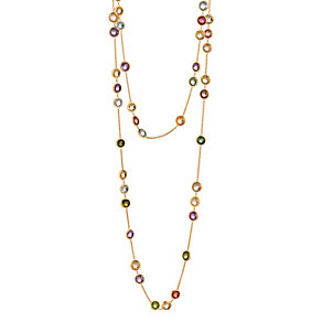 Marco Bicego Jaipur 18ct gold mix stone necklace - Product number 1142925