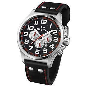 TW Steel Pilot men's stainless steel black strap watch - Product number 1149237