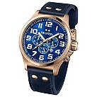 TW Steel Pilot men's rose gold-plated blue strap watch - Product number 1149318