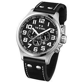 TW Steel Pilot men's stainless steel black strap watch - Product number 1149342