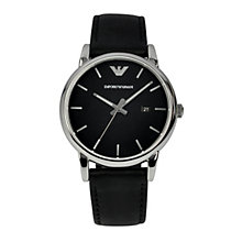 Emporio Armani Men's Stainless Steel & Black Strap Watch - Product number 1149474