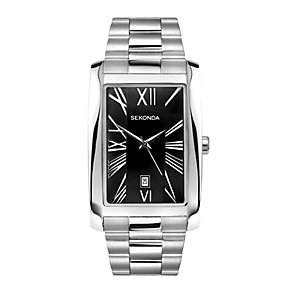 Sekonda Men's Black Dial Stainless Steel Bracelet Watch - Product number 1150081