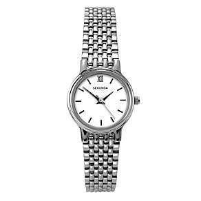 Sekonda Ladies' White Dial Stainless Steel Bracelet Watch - Product number 1150146