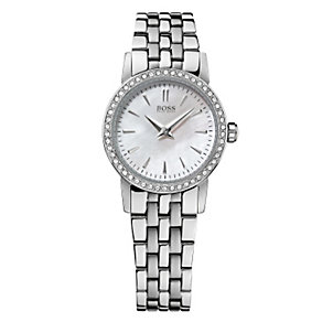 Hugo Boss Mini ladies' stone set steel bracelet watch - Product number 1151622