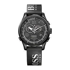 Hugo Boss Sailing men's steel black leather strap watch - Product number 1151762