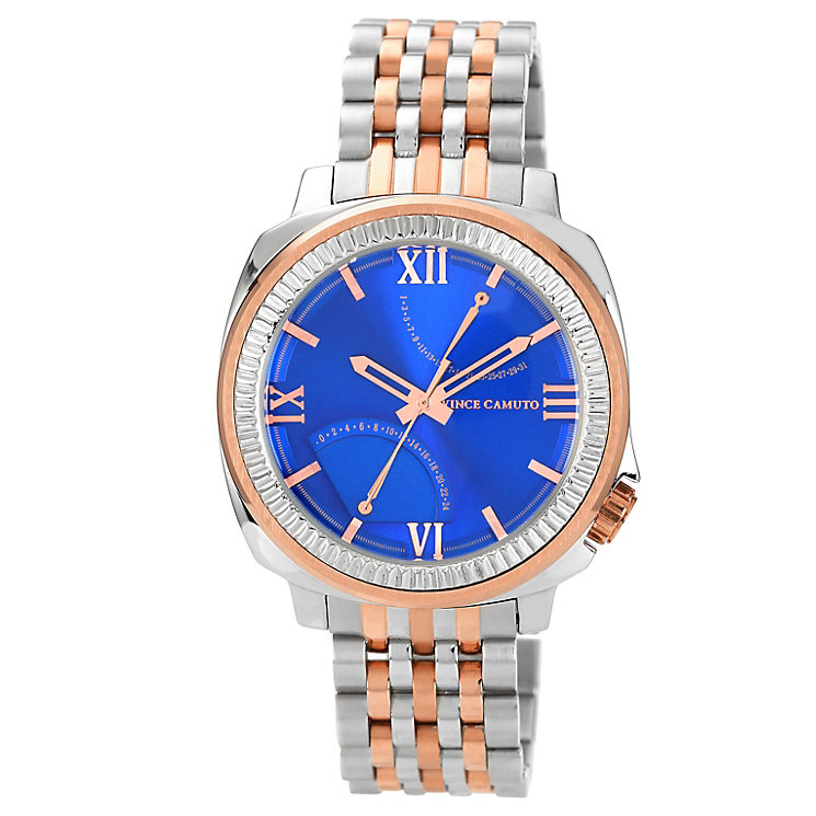Vince Camuto Men's Blue Dial Two Tone Bracelet Watch - Product number 1152637