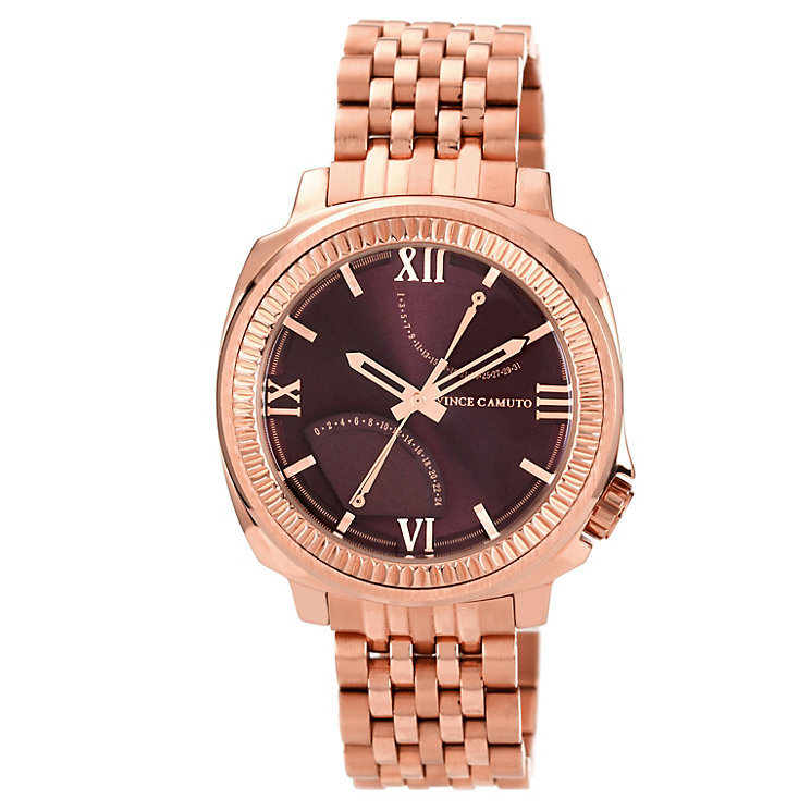 Vince Camuto Men's Rose Gold Ion-Plated Bracelet Watch - Product number 1152645