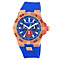 Vince Camuto Men's Rose Gold Ion-Plated Blue Strap Watch - Product number 1152688
