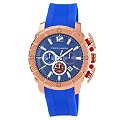 Vince Camuto Men's Rose Gold Ion-Plated Blue Strap Watch - Product number 1152718