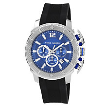 Vince Camuto Men's Stainless Steel Black Strap Watch - Product number 1152726